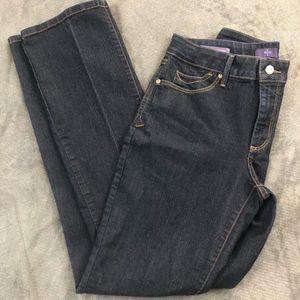 ⬇️38 NYDJ Billie Mini Bootcut Dark Wash Lift Tuck